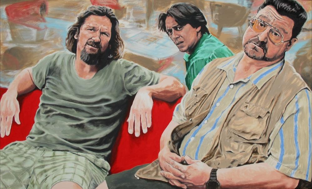 painting in acrylic and oil entitled Der Dude, Donnie und Walter