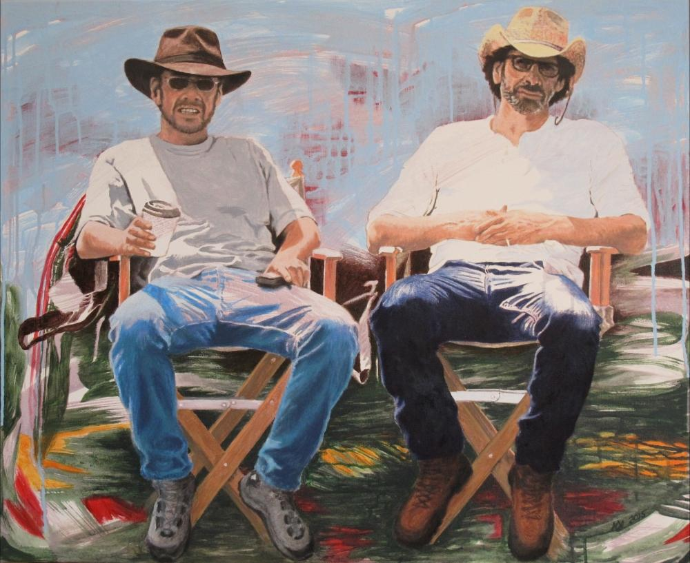 painting in acrylic and oil entitled Ethan und Joel Coen