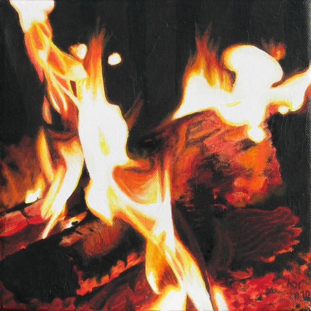 painting in acrylic entitled Feuer