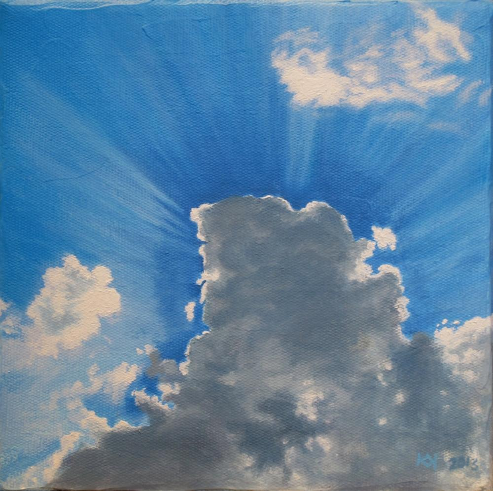 painting in acrylic and oil entitled Himmel